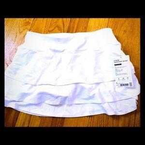 Athleta Stripe Swagger Skort in white